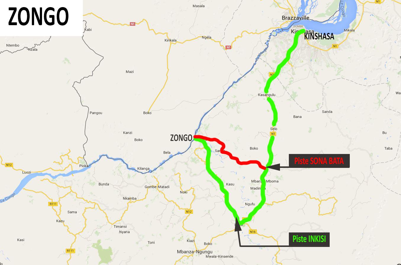 piste Sona Bata et Inskisi RD Congo, chute de Zongo