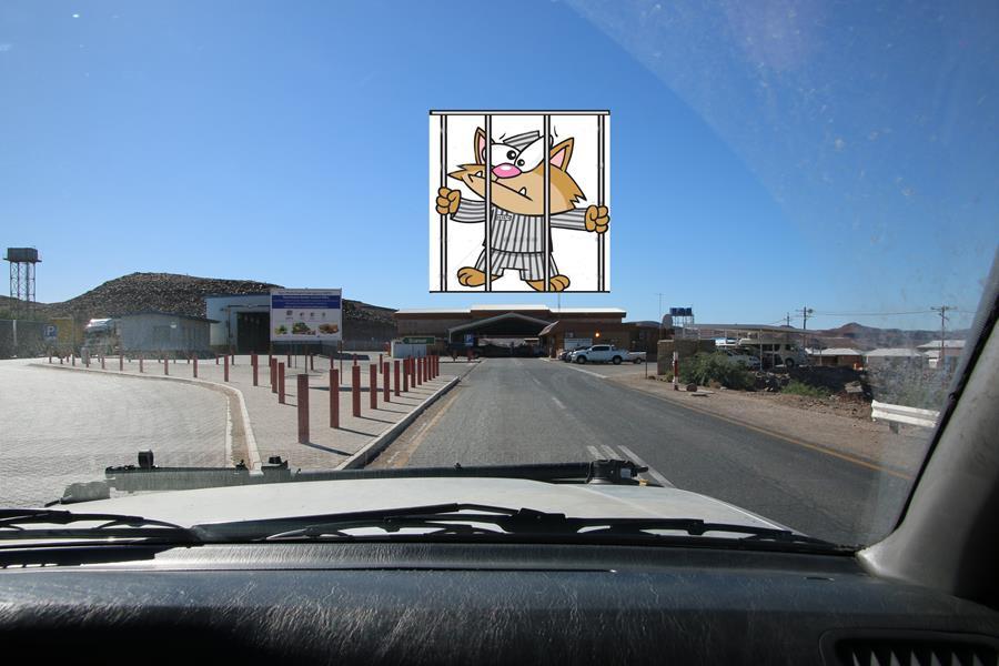 Namibie Sortie sud et la case prison !