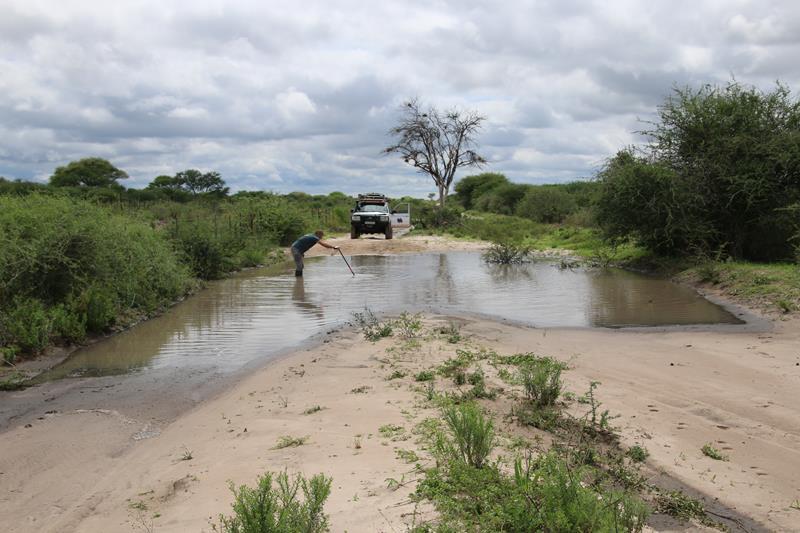 Botswana:  Kalahari «car wash», ne me paNlez plus de Pan